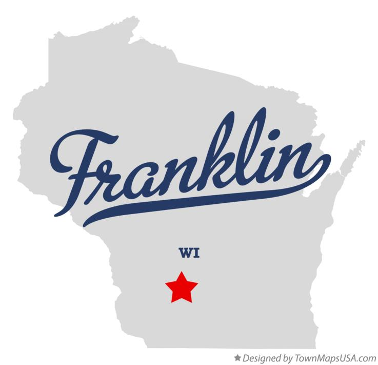 Map of Franklin Wisconsin WI