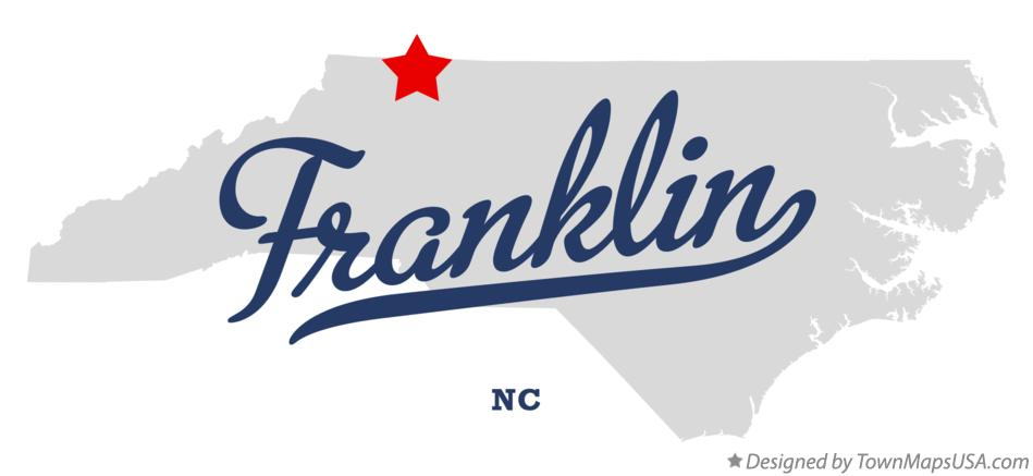Map of Franklin North Carolina NC