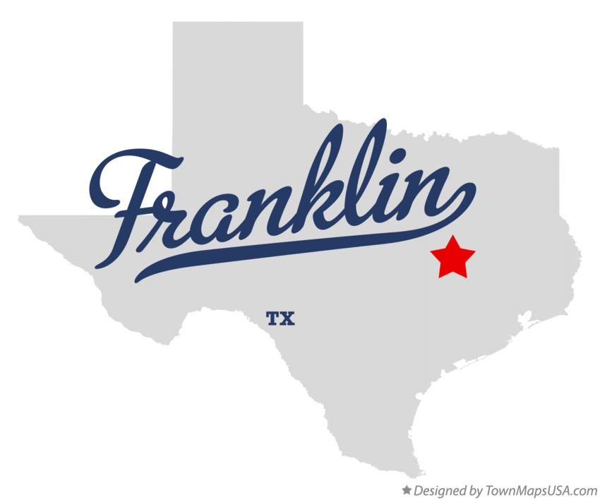 Map of Franklin Texas TX
