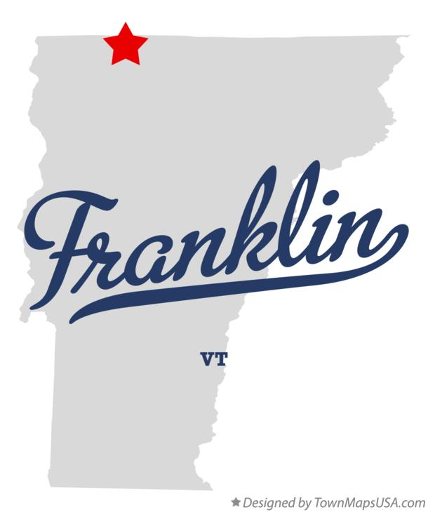 Map of Franklin Vermont VT