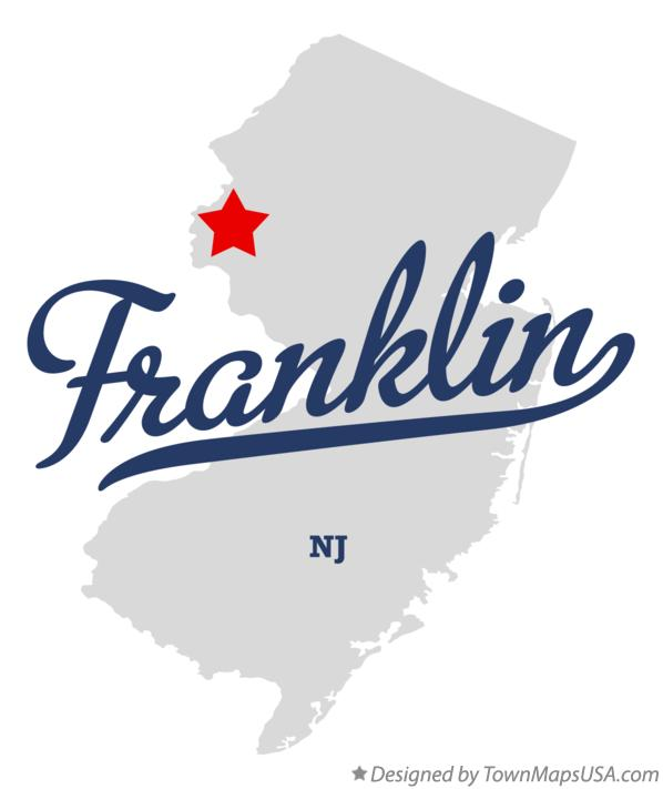 Map of Franklin New Jersey NJ