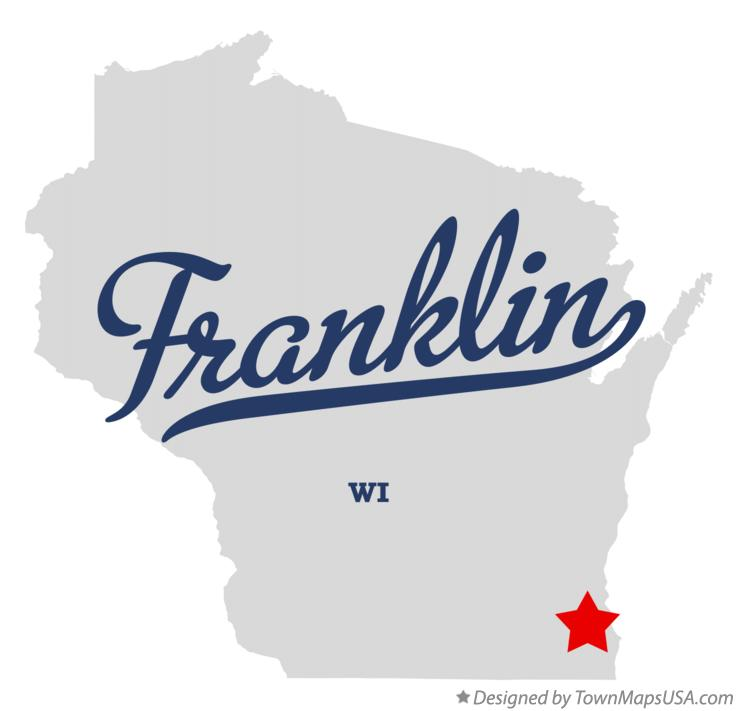 Map of Franklin, Milwaukee County, WI, Wisconsin