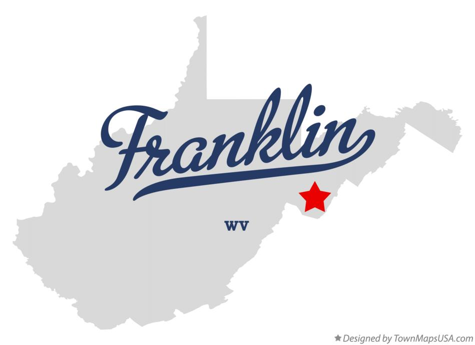 Map of Franklin West Virginia WV