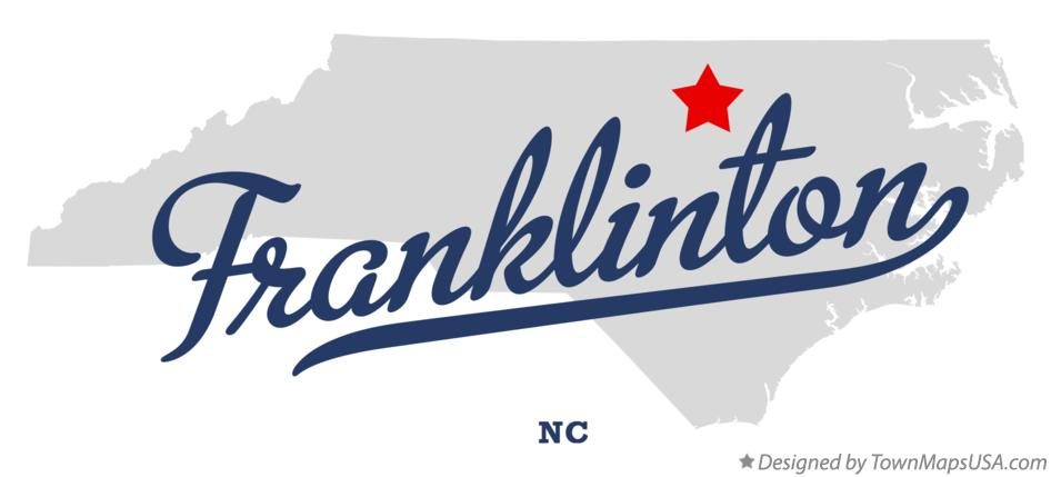 Map of Franklinton North Carolina NC
