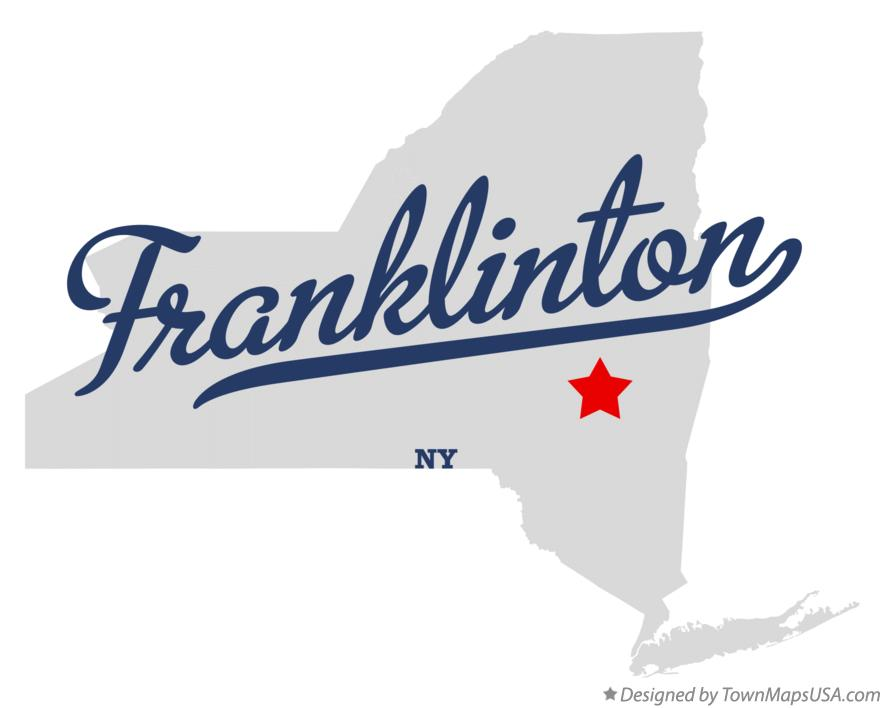 Map of Franklinton New York NY
