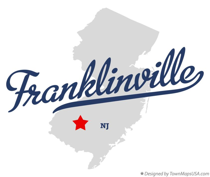 Map of Franklinville New Jersey NJ