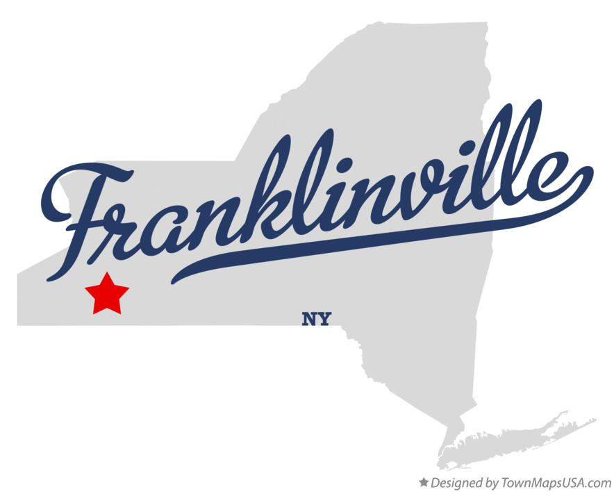 Map of Franklinville New York NY