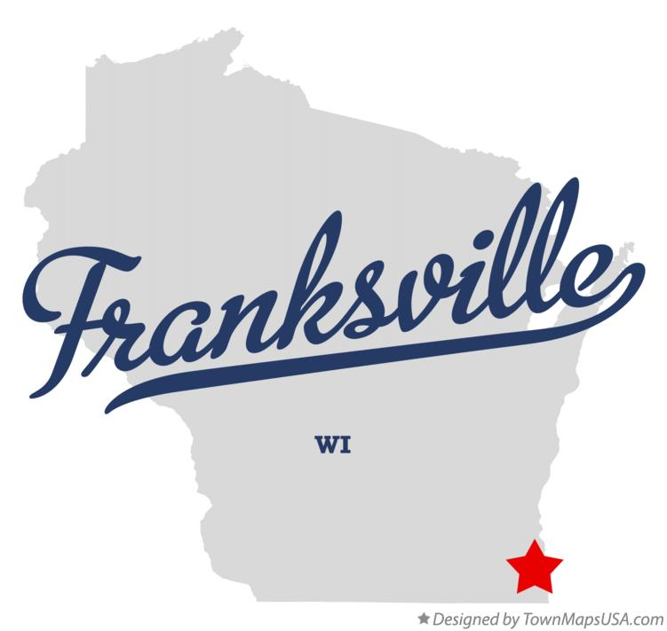 Map of Franksville Wisconsin WI