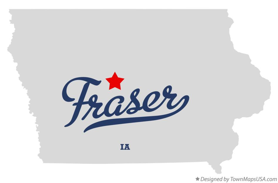 Map of Fraser Iowa IA