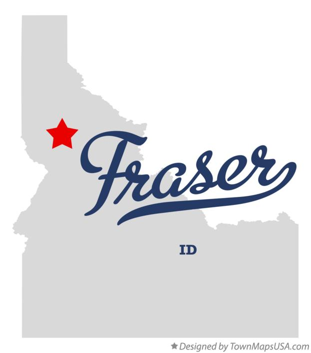 Map of Fraser Idaho ID