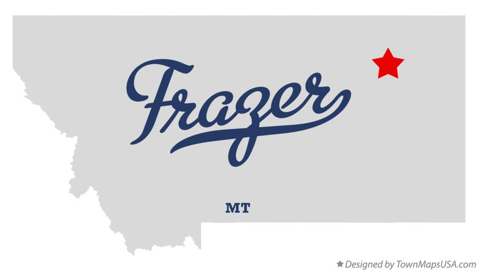 Map of Frazer Montana MT