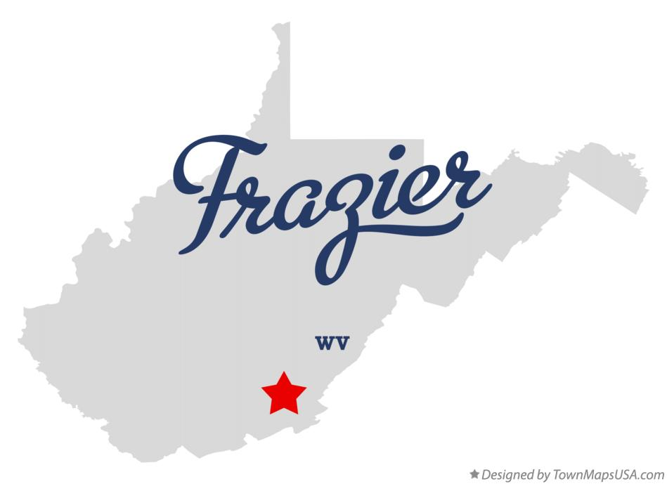 Map of Frazier West Virginia WV