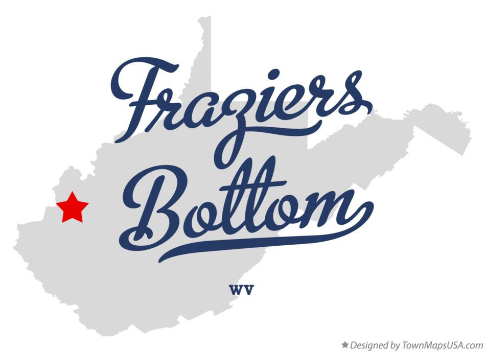 Map of Fraziers Bottom West Virginia WV