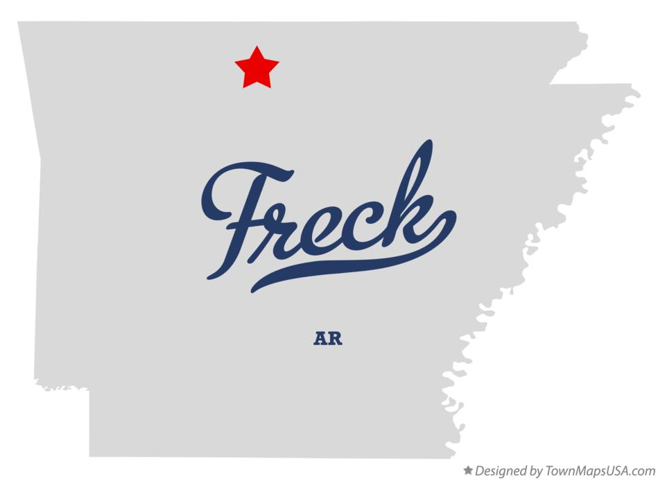 Map of Freck Arkansas AR