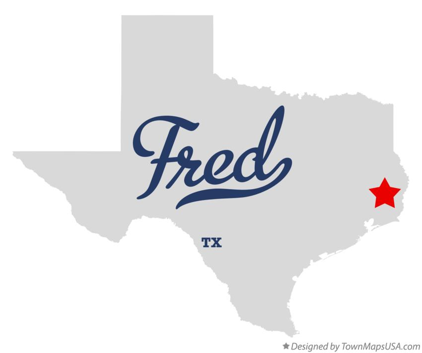 Map of Fred Texas TX