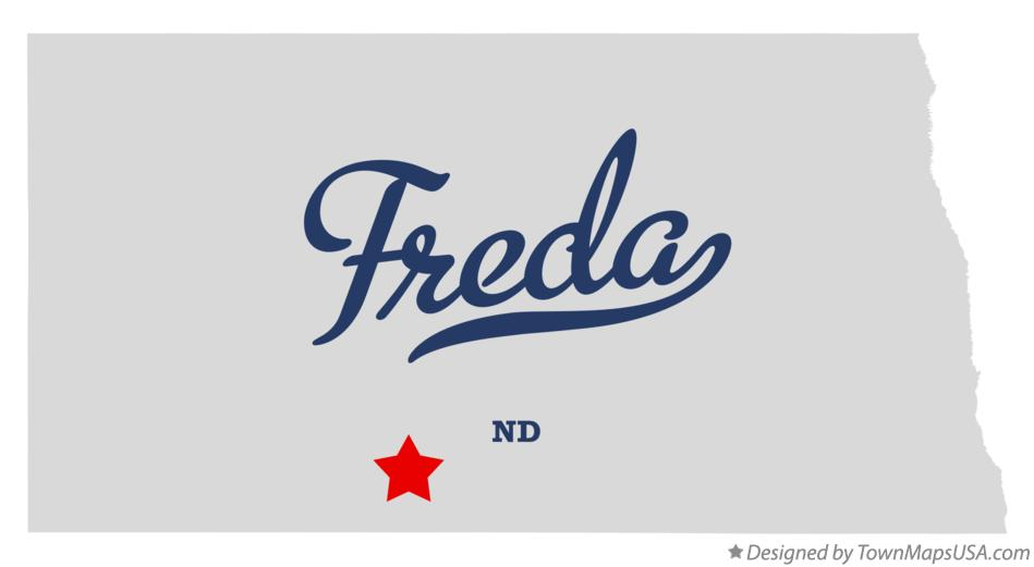 Map of Freda North Dakota ND