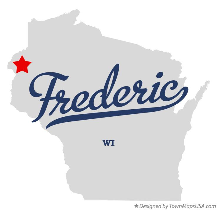Map of Frederic Wisconsin WI