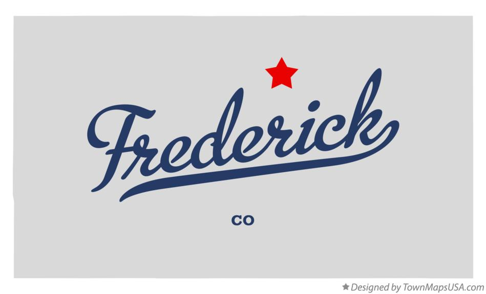 Map of Frederick Colorado CO