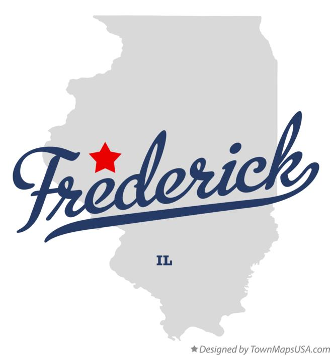 Map of Frederick Illinois IL