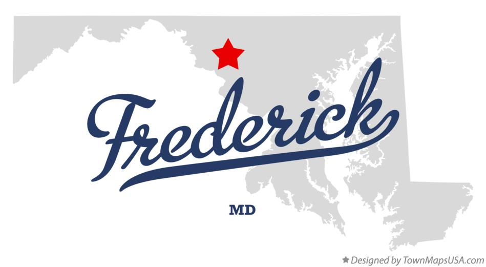 Map of Frederick Maryland MD