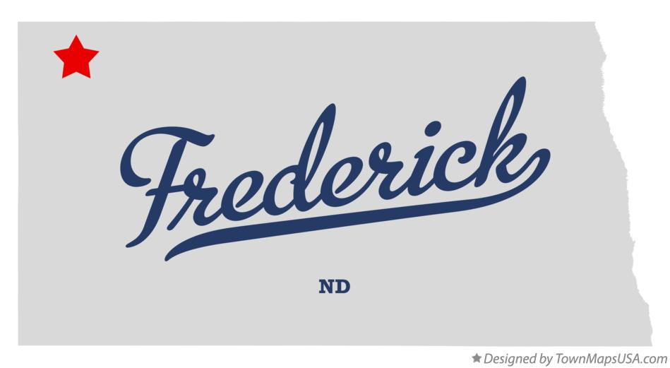 Map of Frederick North Dakota ND