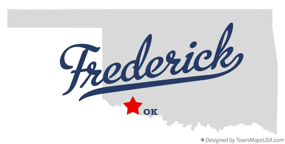 Map of Frederick Oklahoma OK