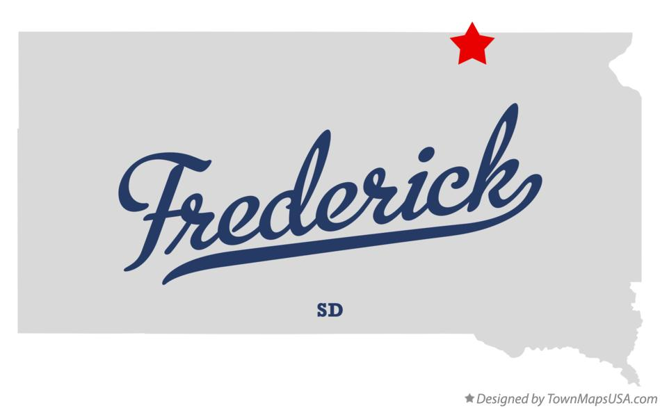 Map of Frederick South Dakota SD