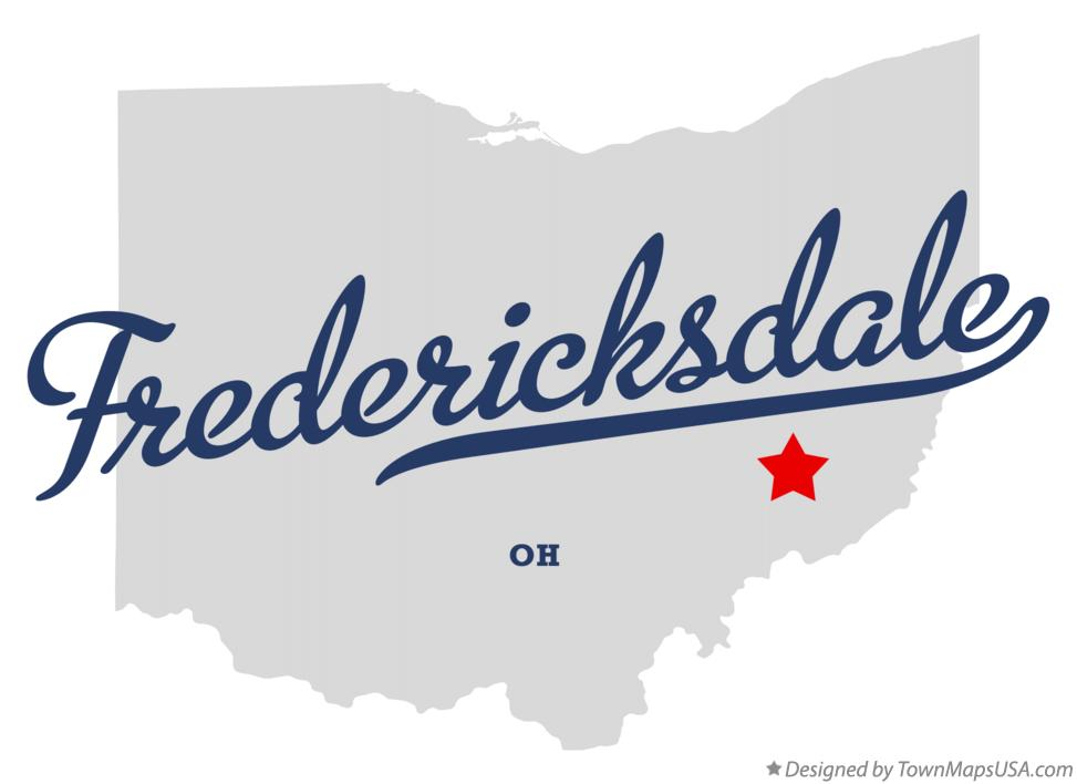 Map of Fredericksdale Ohio OH