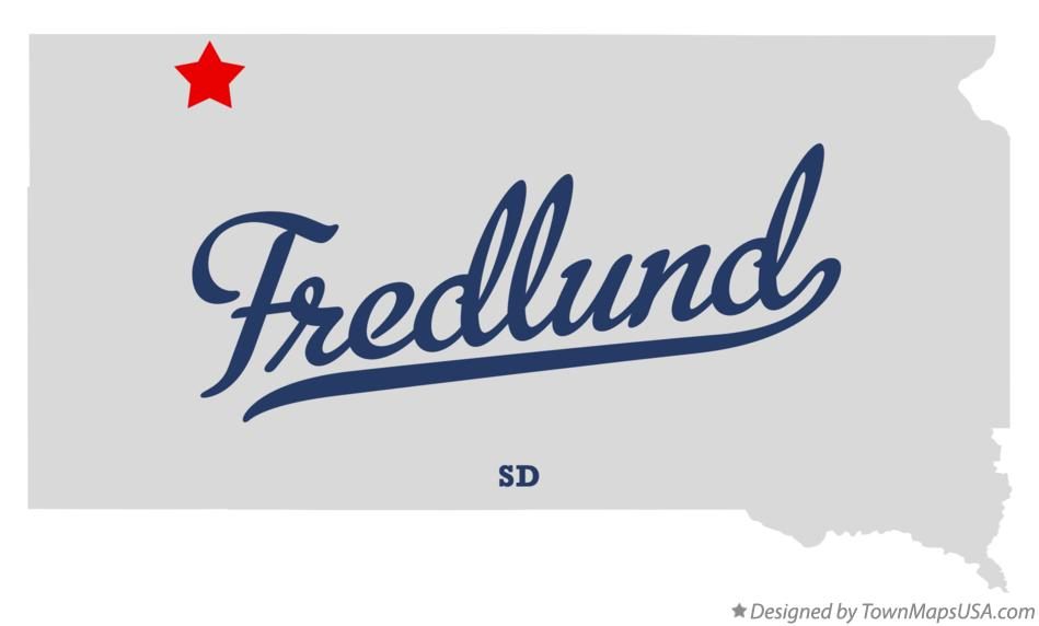 Map of Fredlund South Dakota SD