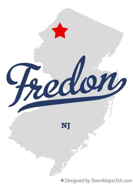 Map of Fredon New Jersey NJ
