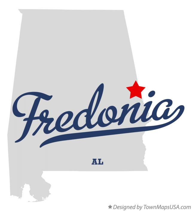 Map of Fredonia Alabama AL