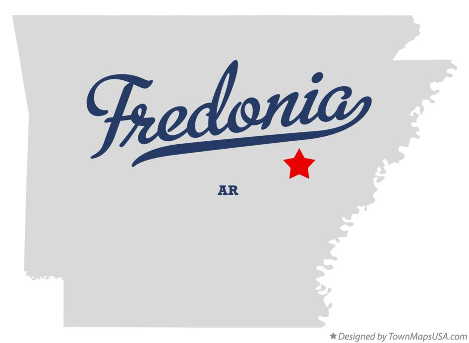 Map of Fredonia Arkansas AR