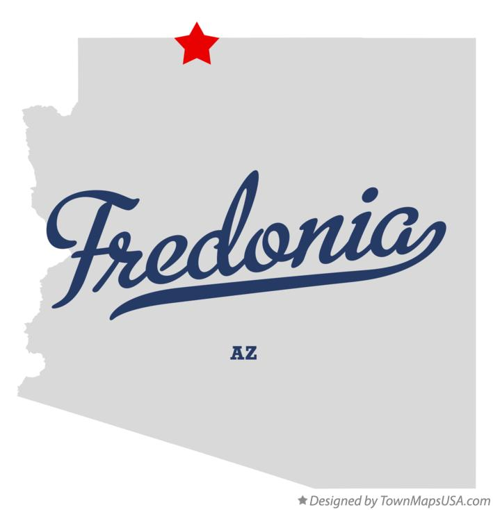 Map of Fredonia Arizona AZ