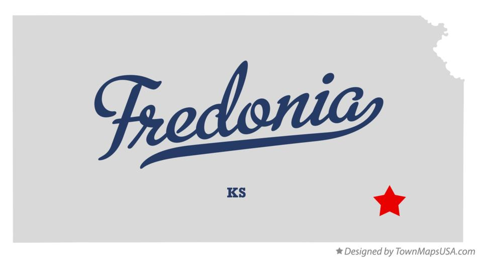 Map of Fredonia Kansas KS