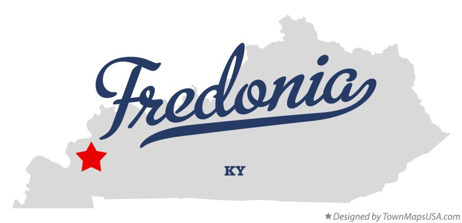 Map of Fredonia Kentucky KY
