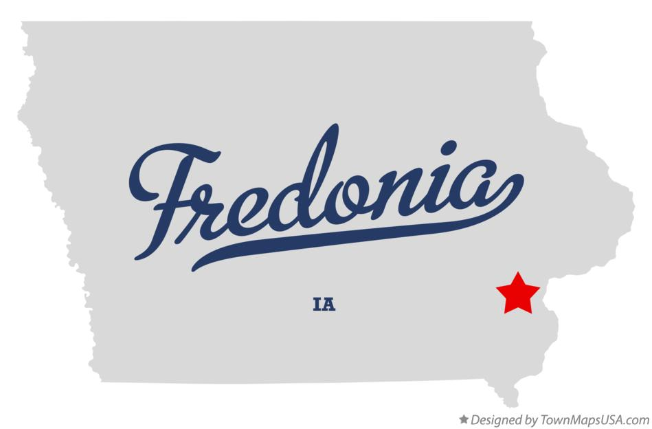 Map of Fredonia Iowa IA