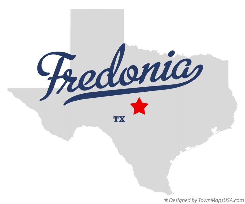Map of Fredonia Texas TX