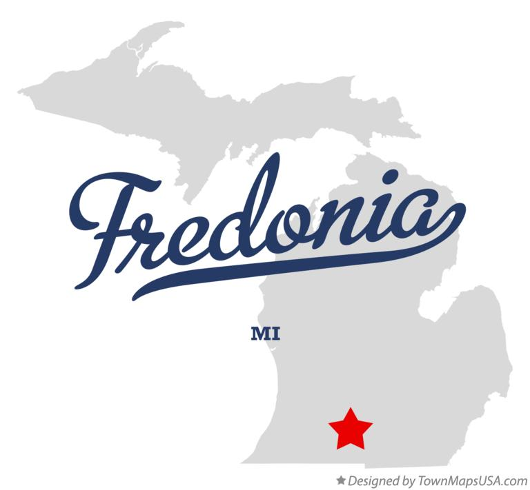 Map of Fredonia Michigan MI