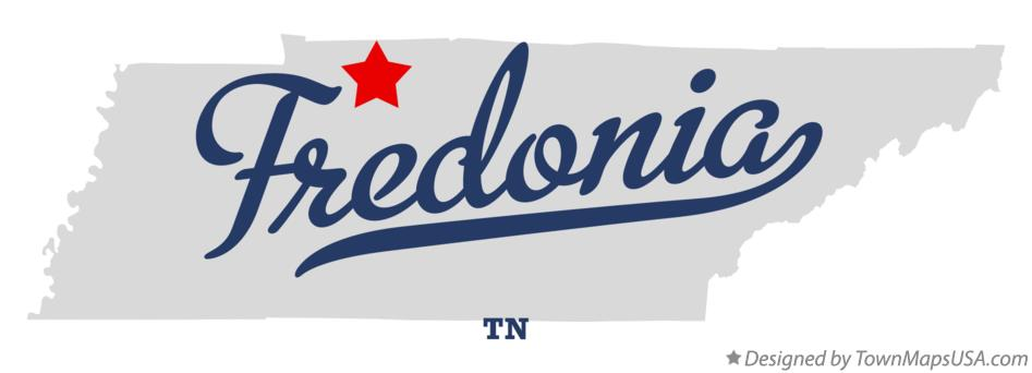 Map of Fredonia Tennessee TN