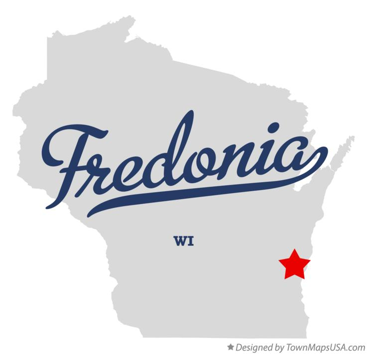 Map of Fredonia Wisconsin WI
