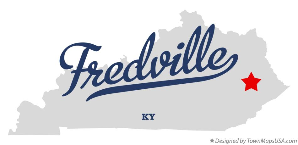 Map of Fredville Kentucky KY