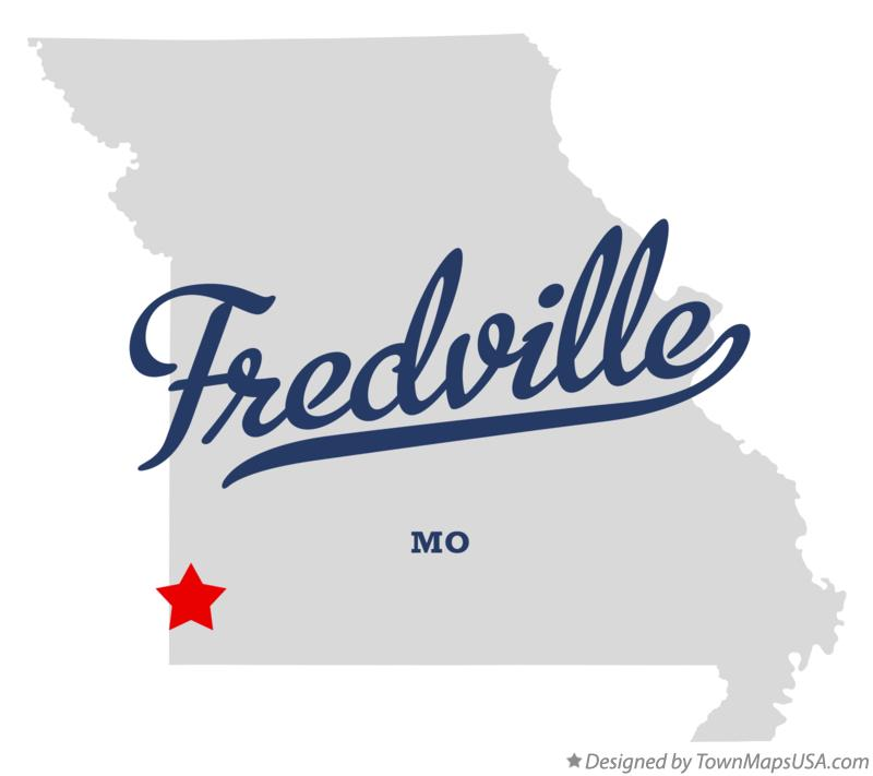 Map of Fredville Missouri MO