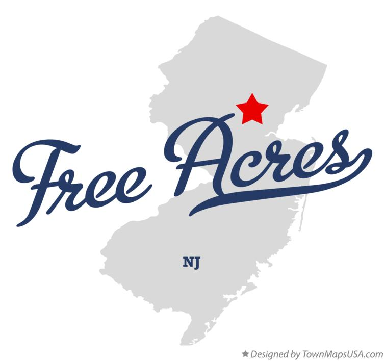 Map of Free Acres New Jersey NJ