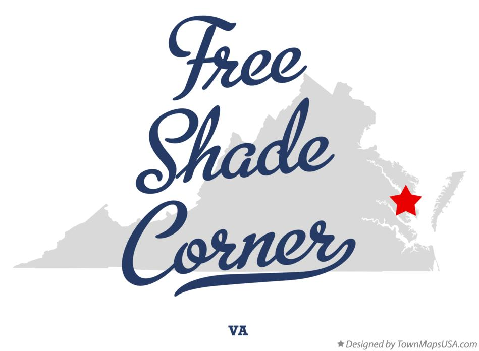 Map of Free Shade Corner Virginia VA
