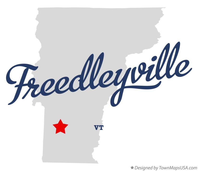 Map of Freedleyville Vermont VT