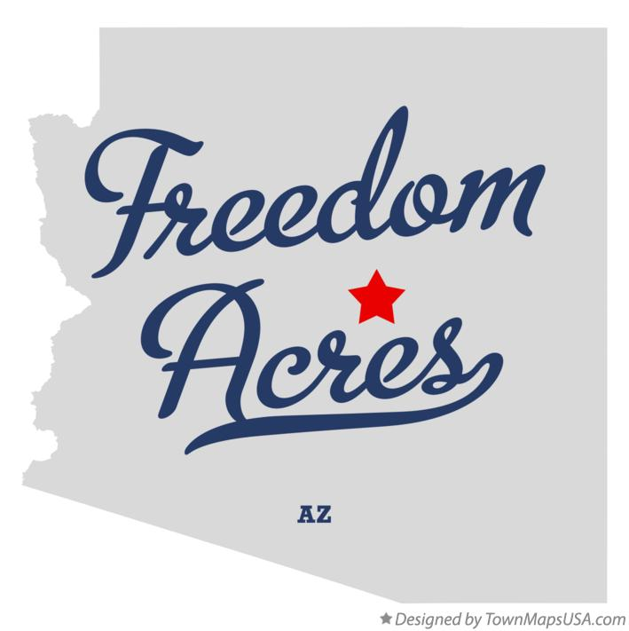 Map of Freedom Acres Arizona AZ