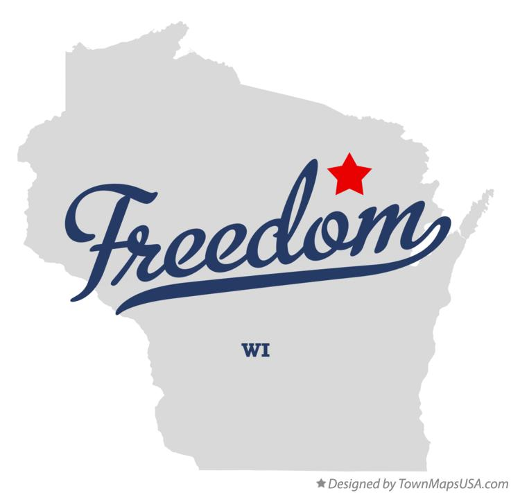 Map of Freedom Wisconsin WI