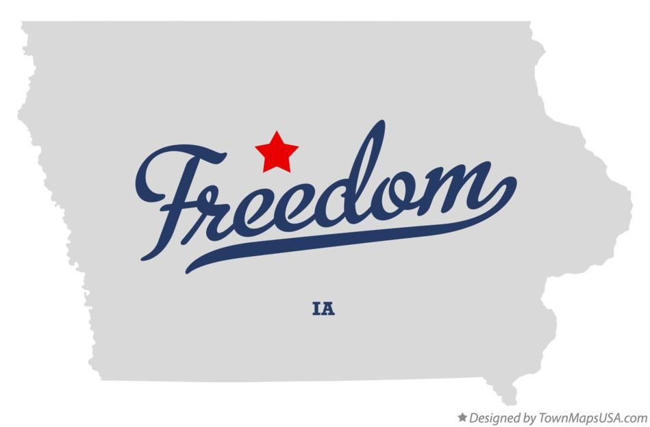 Map of Freedom Iowa IA