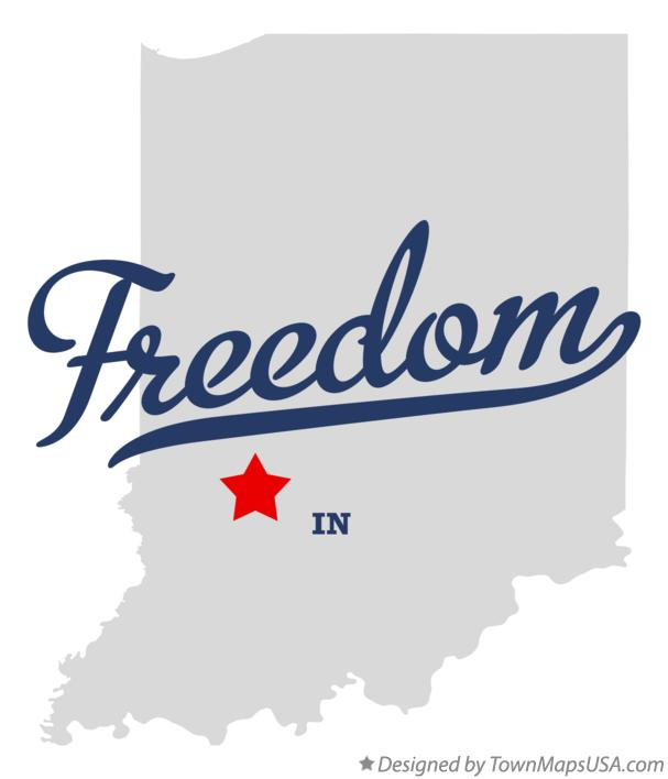 Map of Freedom Indiana IN