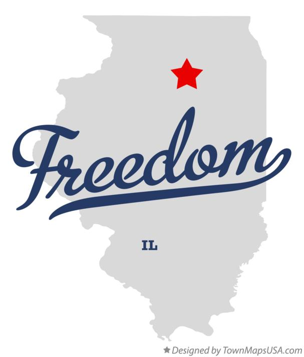 Map of Freedom Illinois IL